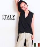 ITALY カシュクールテールカットシャツ