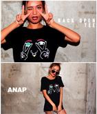 フェイスプリントBACKオープンTシャツ
