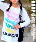 WEEKロゴBIGロングTシャツ
