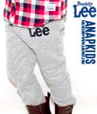 Lee 刺繍ロゴスウェット裏地ボアパンツ