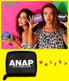 『ANAP』ロゴ二つ折リ財布