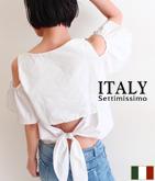 ITALY バックオープンサッシュトップス