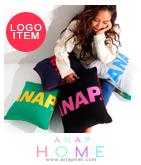 「ANAP」ロゴ入り配色クッションカバー