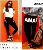 『ANAP』ロゴスウェットロングパンツ