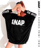 『ANAP』ロゴ両袖プリントチュニック