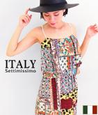 ITALY パッチワーク風MIXプリントワンピース