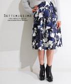 シャンタンフラワーイラストスカート