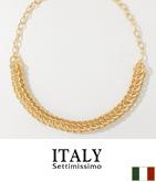 ITALY ゴールドチェーンデザインネックレス