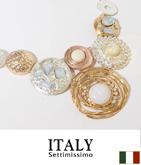 ITALY サークルデザインクラフトネックレス