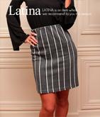 ダブルカラーラインタイトスカート