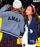 『ANAP』ロゴ ブルゾン
