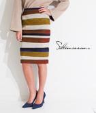 ブークレボーダータイトスカート