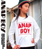 ボックスロゴロングTシャツ