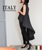 ITALY バックラッフルテールカットシャツ