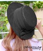 ボリュームリボンカンカン帽