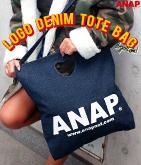 『ANAP』ロゴハートデニムトートバッグ