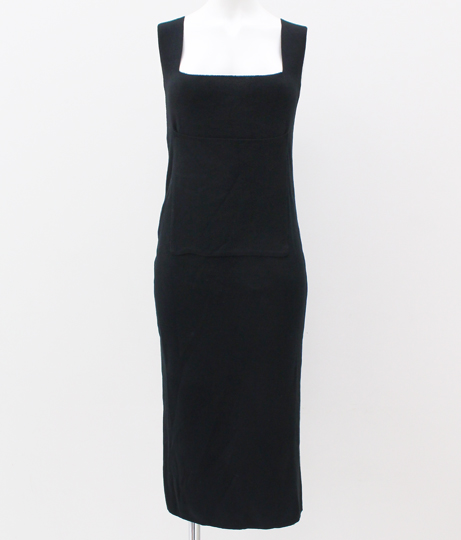 ニットジャンパースカート|ブラック