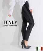 ITALY ベロアサイドラインパンツ