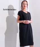 ショルダータックコクーンドレス