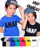 ANAPお揃い・6カラーシンプルロゴTシャツ