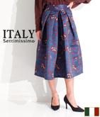 ITALY ボタニカルフレアースカート