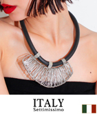 ITALY ワイヤーデザインネックレス