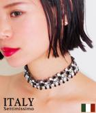 ITALY ビジューデコラティブチョーカー