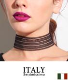 ITALY メッシュデザインワイドチョーカー