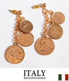 ITALY 3コインモチーフピアス