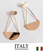 ITALY セミサークル×バーデザインピアス