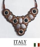 ITALY ビーズデコラティブネックレス