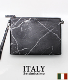 ITALY 大理石風クラッチバッグ