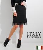 ITALY チュールインタイトスカート