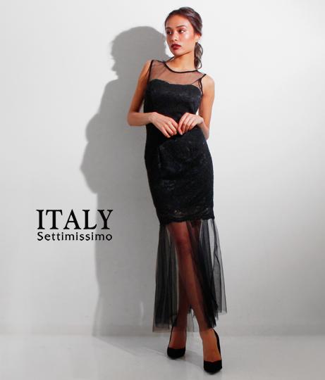 ITALY レースマーメイドドレス