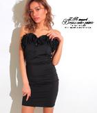 フラワーポイントベアタイトドレス