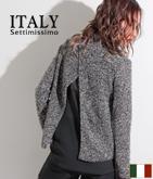 ITALY シフォンバックオープントップス