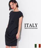 ITALY  アシンメトリードレープドレス
