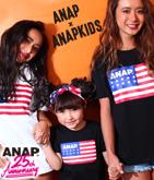 ANAP 25th アメリカンフラッグ キッズロゴTシャツ