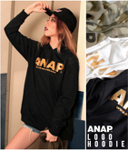 『ANAP』ロゴ迷彩&ゴールドプリントフーディー