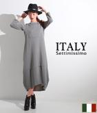 ITALY スウェットコクーンワンピース