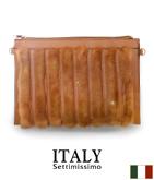 ITALY フェイクファーストライプバッグ