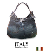 ITALY デニムリメイクバッグ