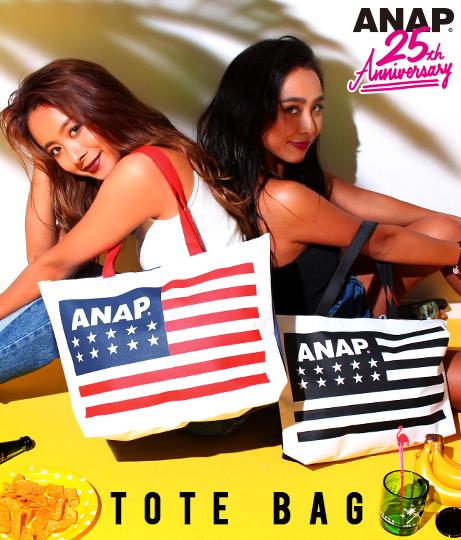 ANAP 25th アメリカンフラッグロゴトートバッグ
