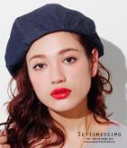 デニムボリューミーベレー帽