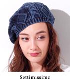 ウォッシュ加工ニットベレー帽