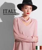 ITALY ドレープ&オープンネックトップス