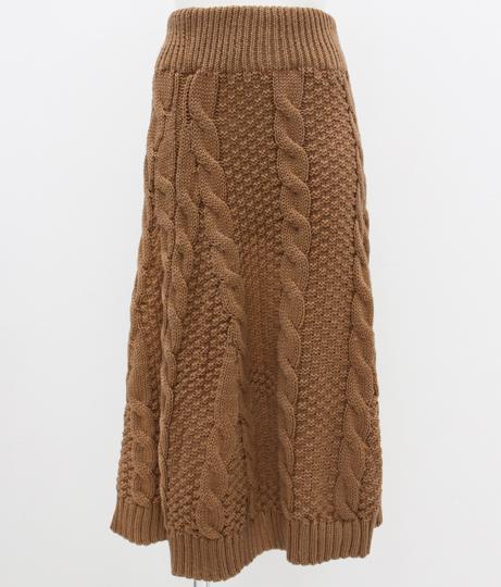 ケーブルニットロングスカート