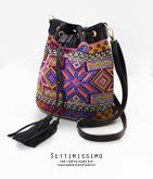 オルテガ刺繍ドローストリングバッグ