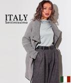 ITALY コクーンニットコート