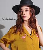 フラミンゴ刺繍ヴィンテージサテンシャツ